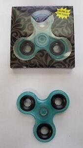ULTIMATE Glow in the Dark Fidget Spinner BLUE / Dexterity & Motor / USA SELLER
