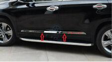 4pcs Steel Body Door Side Molding Frame Trim k For Toyota Highlander 2014-2019