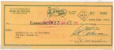 El Rancho Vegas Check To Standard Oil Company Of California 1953 Bonanza Road LV