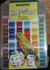 Madeira 80 spool box of rayon thread