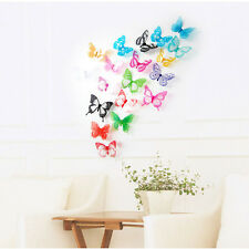 18PC Decal Removable Art  3D Butterfly Wall Sticker Decal Mural Home Room Decor