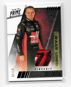 2019 PANINI PRIME RACING COLE CUSTER FIRESUIT PATCH RELIC BLACK PARALLEL 9/10