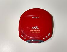 Sony Walkman D-E220 Portable CD Player Red ESP Max Tested And Works