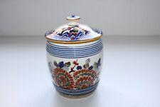 Ancien pot à tabac en faïence de Gien, décor japonisant