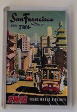San Francisco Vintage Travel Poster Fridge Magnet