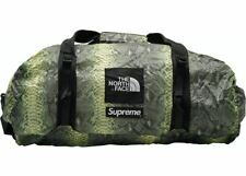 Supreme x The North Face Snakeskin Flyweight Duffle Bag Green SS18 DS New Snake