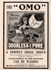1902 A AD  OMO DRESS SHIELD MIDDLETOWN NAKED WOMAN POND WATER LILIES