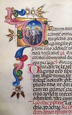 Illuminated Manuscript Circa 1420 MINIATURE PORTRAITS Vellum Italian 272 Leaves