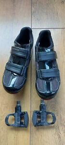 Shimano SPD-SL R065 Cycling Shoe Size 44 WITH LOOK CLEATS COVERS AND PEDALS