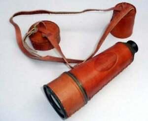 Nautical Brass Telescope Kelvin & Hughes London Pirate Collectible Spyglass Gift