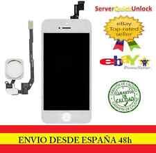 PANTALLA COMPLETA TACTIL LCD PARA IPHONE 5S BLANCA + FLEX BOTON HOME BLANCO