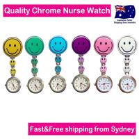 Nurse Watch Smiley Face Clip Pocket Watch Quartz Movement for Nurse Pouch Bag