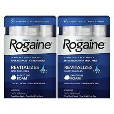 2 BOXES ROGAINE FOAM HAIR LOSS & REGROWTH TrREATMENT 5% MINOXIDIL 6 MONTH SUPPLY
