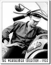 Elvis on Harley Motorcycle Retro Tin Sign Metal Poster