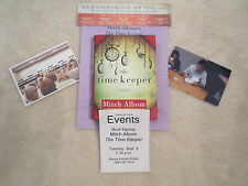 MITCH ALBOM. AUTOGRAPH. THE TIME KEEPER. 1ST ED. SIGNED OPENING NIGHT. 9/4/12.