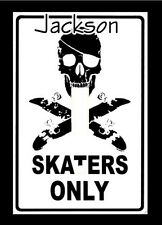 Personalized Skaters Only Skull Skateboard Light Switch Plate Cover Home Decor