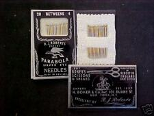 20 BETWEENS SEWING NEEDLES/size 4>made in ENGLAND!!!