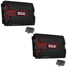 Boss Audio Pd5000 5000W Mono D Car Audio Amplifier Power Amp w/ Remote (2 Pack)
