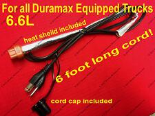 2001-2018 6.6 L Duramax Diesel Engine Block Heater Cord Chevy GMC 2500 3500