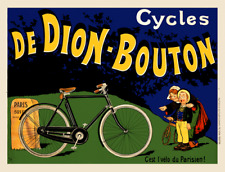 Cycles De Dion-Bouton Vintage Bicycle Poster Print Art Advertisement - Cycling