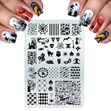 Nail Art Stamping Plates Image Plate HALLOWEEN Pumpins Bat Cat Witch Boo (HK11)