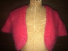Michael Kors Pink Angora Cropped Cardigan -NWT (Small) Perfect for V-Day!