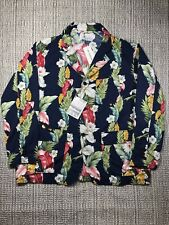 ENGINEERED GARMENTS, LOITER JACKET, MEN'S LARGE, BRAND NEW, NAVY GREEN FLORAL
