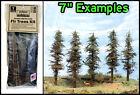 "Model Fir Trees KIT, makes 5 TREES, ea 7"" Tall, greatDETAIL, HO/N/O/S, FREE SHIP"