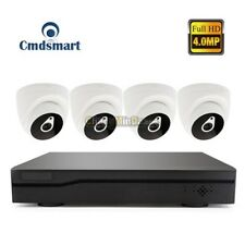 4pcs IP Security Cameras H.265 4CH POE NVR Kits 4.0MP Home Security Systems