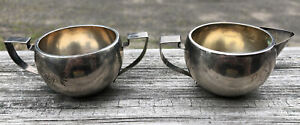 Paye & Baker P&B sterling silver creamer and sugar bowl Non Weighted (76 Grams)