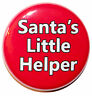 "1"" (25mm) 'Santa's Little Helper' Button Badge Pin - High Quality Custom Badge"