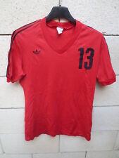 Maillot ADIDAS vintage porté #13 rouge nylon trikot shirt jersey VENTEX maglia S