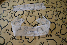 WHITE Lace Set Choker(Necklace) + Bracelet.Fancy dress.Wedding Party skull S011