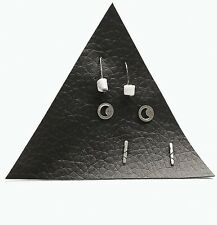 Free People Stone Arch Stud Earrings Set On Leather Patch