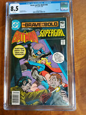 BRAVE AND THE BOLD # 160 DC COMICS  CGC GRADED 8.5 BATMAN SUPERGIRL