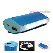 5200MAH PORTABLE BATTERY CHARGER USB BLUE NOKIA LUMIA 920 1020 HTC ONE X Z10 Q10