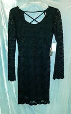 Women's Black Lace Dress Cocktail Club Holiday Formal size XSMALL