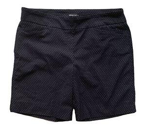 HILARY RADLEY Black/White Pull on Stretch Shorts w/pockets~XL 16/18~NWOT~NICE!