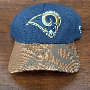 New Los Angeles Rams New Era Mens Hat Curved Size Medium Large Cap Blue NFL