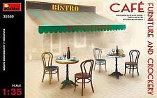 Miniart 1/35 Cafe Furniture & Crockery # 35569