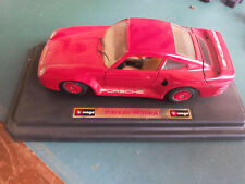 BURAGO PORSCHE 959 TURBO 1/24 rouge