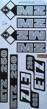 MZ ETZ 250 Juego de 8 piezas conjunto de la etiqueta engomada