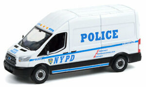 Greenlight Route Runners 15 Ford Transit Van NYPD New York Police Dept PREORDER