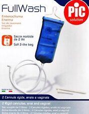 Fullwash home enema colonic Irrigation Kit. Reusable Enema Bag. 2 Litres.
