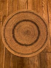 Authentic Large African Handwoven Basket Table Wall Decor Natural/Black L@K!