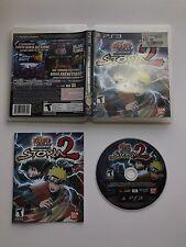 Naruto Shippuden: Ultimate Ninja Storm 2 (Sony PlayStation 3, 2010) VG! Complete