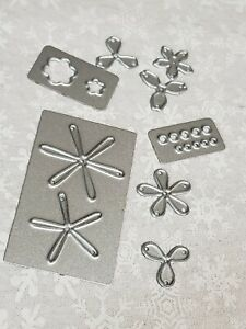 Sizzix spring foliage set, not complete metal dies for card making flowers
