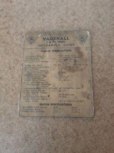 VAUXHALL (F & PA SERIES) Mechanics Guide December 1959 General Motors Holden's