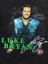 Luke Bryan Kick The Dust Up Concert 2 side black Shirt sz XL Country Music Band