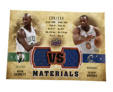 2009-10 Upper Deck VS Dual Materials Bronze #VS-GA Gilbert Arenas Kevin Garnett
